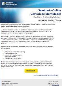 Seminario Online Gestión de Identidades